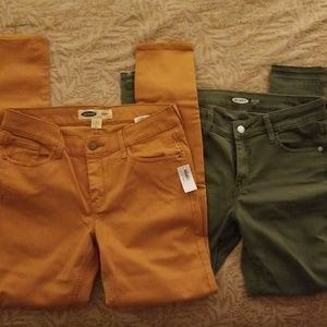 NWT Old Navy colored denim, 2 pair